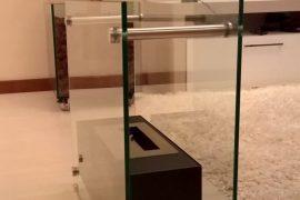 Lareira em vidro por Marcos Nunes Vidros Temperados